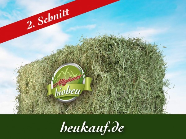 Allgäuer BIO-HEU zweiter Schnitt 10kg Heuballen