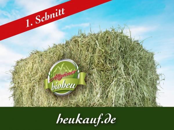 Allgäuer BIO-HEU erster Schnitt Heuballen 20kg