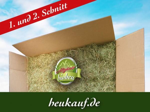 Allgäuer BIO-HEU Mixkarton erster und zweiter Schnitt 20kg lose im Karton